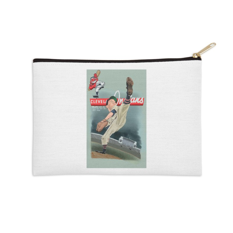 Bob Feller MLB HOF Accessories Zip Pouch by goofyink's Artist Shop