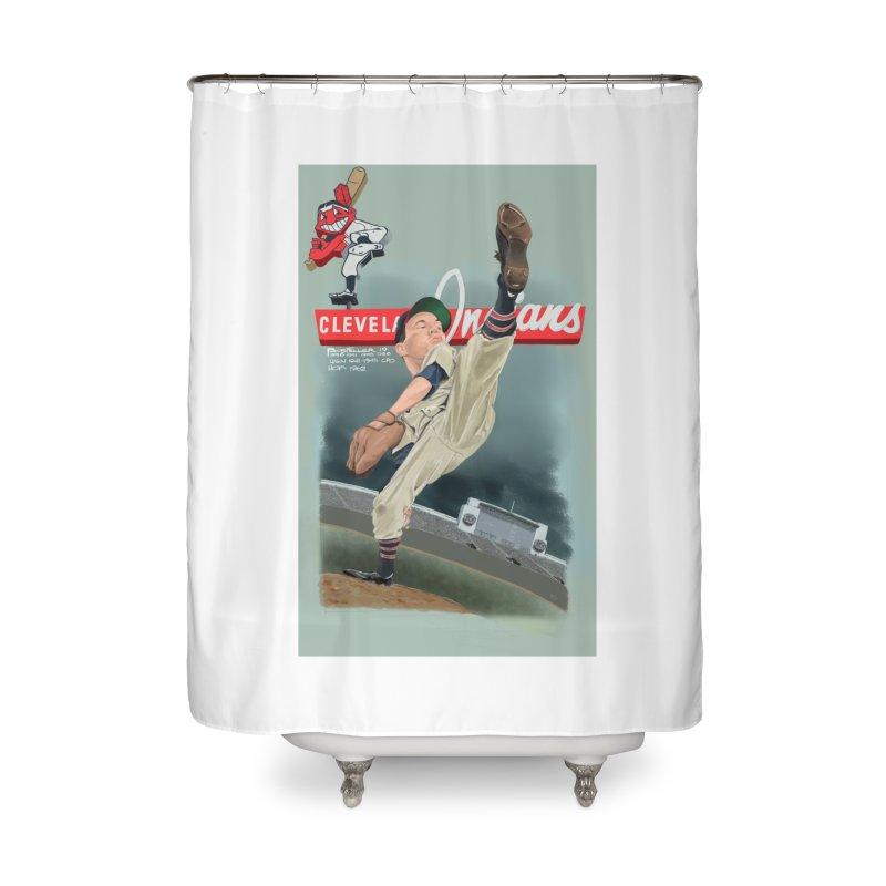 Bob Feller MLB HOF Home Shower Curtain by goofyink's Artist Shop