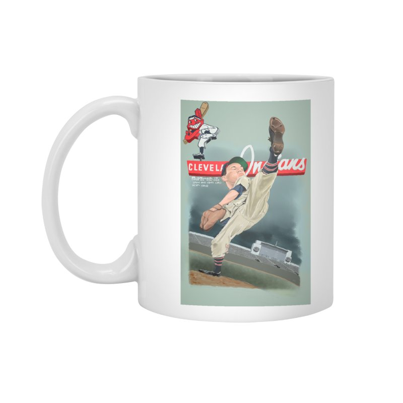 Bob Feller MLB HOF Accessories Mug by goofyink's Artist Shop