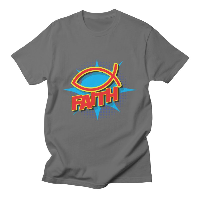Pop Art Faith Fish Women's T-Shirt by goofyink's Artist Shop