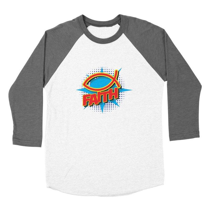 Pop Art Faith Fish Women's Longsleeve T-Shirt by goofyink's Artist Shop