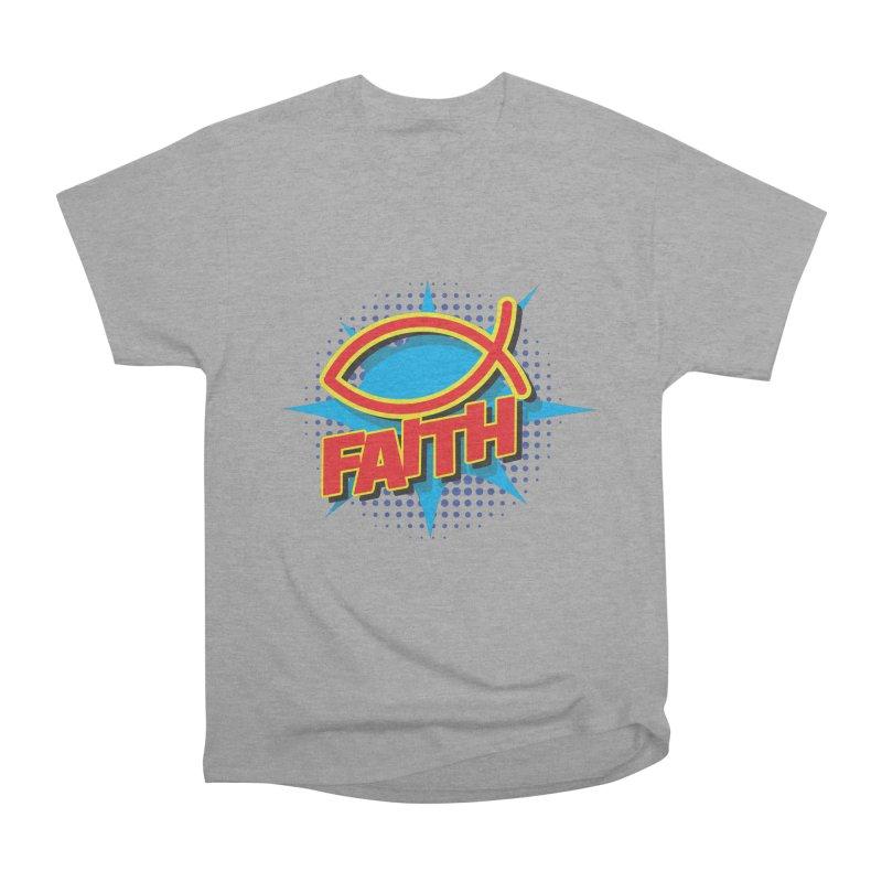 Pop Art Faith Fish Women's Heavyweight Unisex T-Shirt by goofyink's Artist Shop