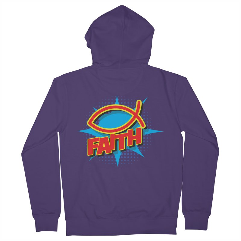 Pop Art Faith Fish Women's Zip-Up Hoody by goofyink's Artist Shop