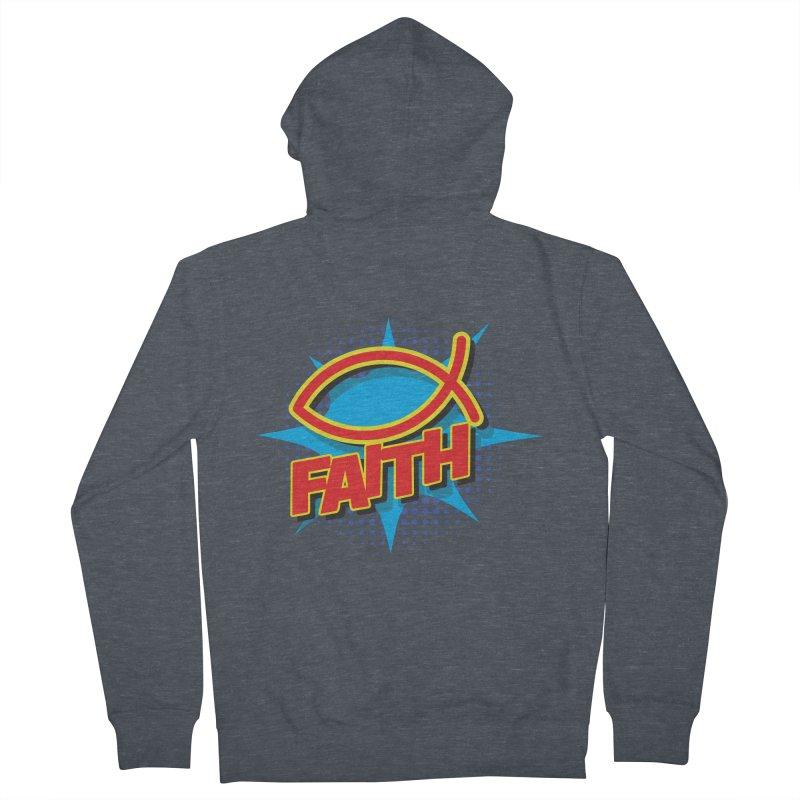 Pop Art Faith Fish Men's Zip-Up Hoody by goofyink's Artist Shop