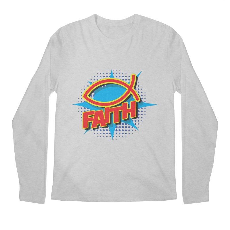 Pop Art Faith Fish Men's Longsleeve T-Shirt by goofyink's Artist Shop
