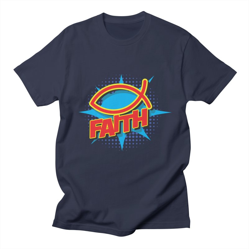 Pop Art Faith Fish Women's Regular Unisex T-Shirt by goofyink's Artist Shop