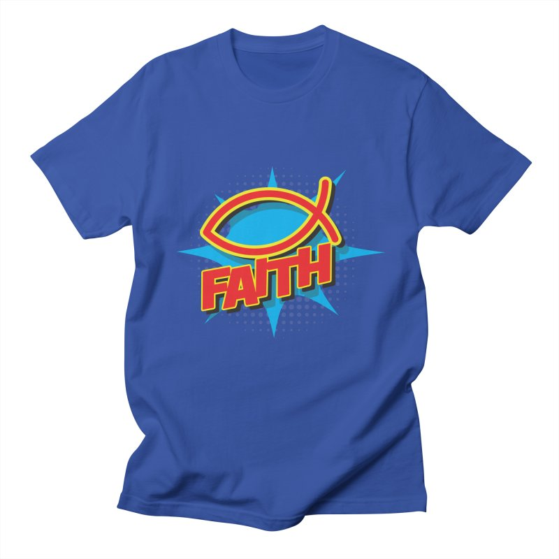 Pop Art Faith Fish Women's Unisex T-Shirt by goofyink's Artist Shop