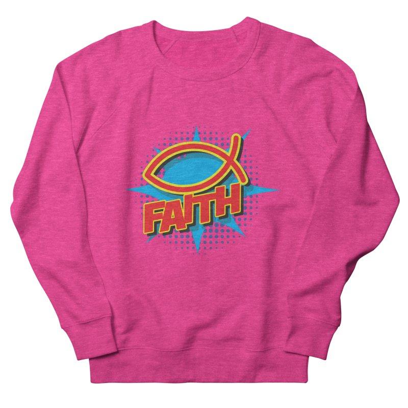 Pop Art Faith Fish Women's French Terry Sweatshirt by goofyink's Artist Shop