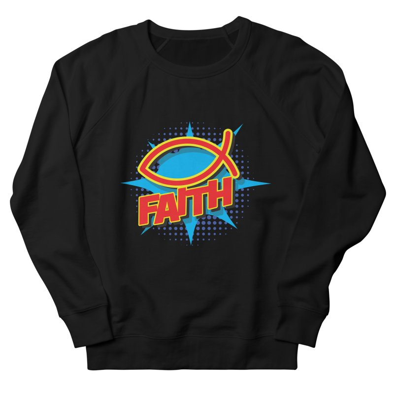 Pop Art Faith Fish Men's Sweatshirt by goofyink's Artist Shop