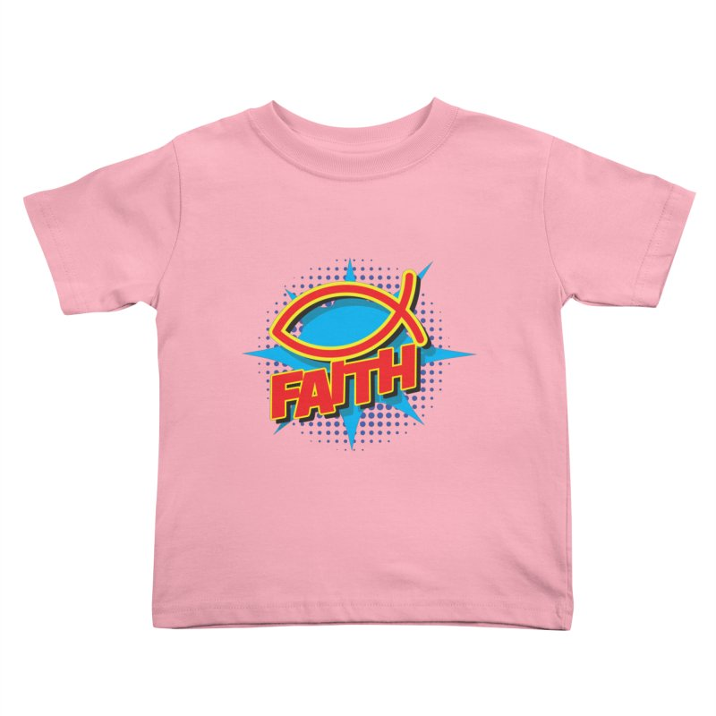 Pop Art Faith Fish Kids Toddler T-Shirt by goofyink's Artist Shop