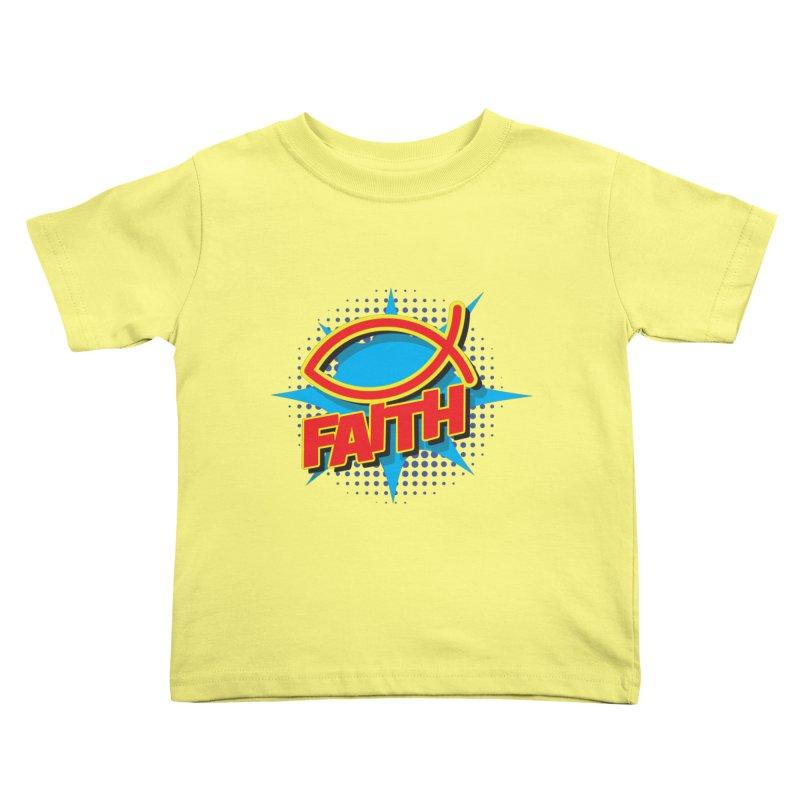 Pop Art Faith Fish Kids Toddler T-Shirt by goofyink's Artist Shop