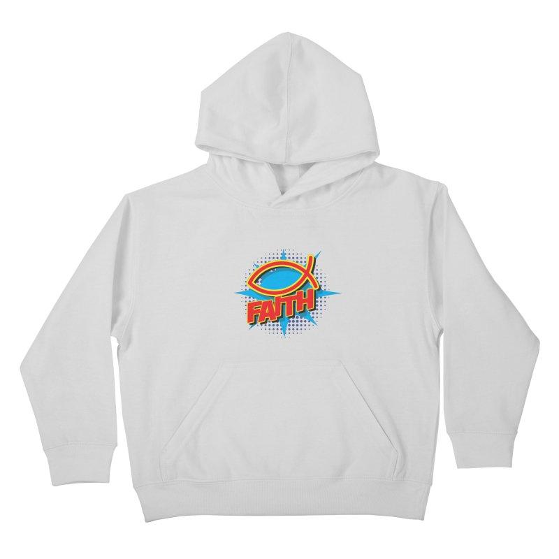 Pop Art Faith Fish Kids Pullover Hoody by goofyink's Artist Shop