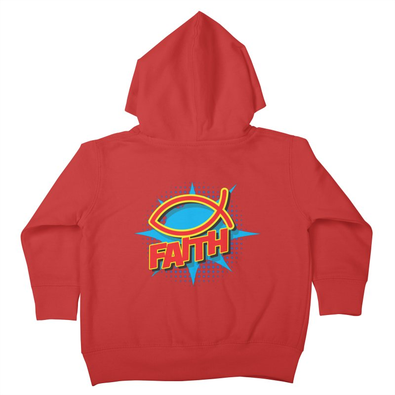 Pop Art Faith Fish Kids Toddler Zip-Up Hoody by goofyink's Artist Shop