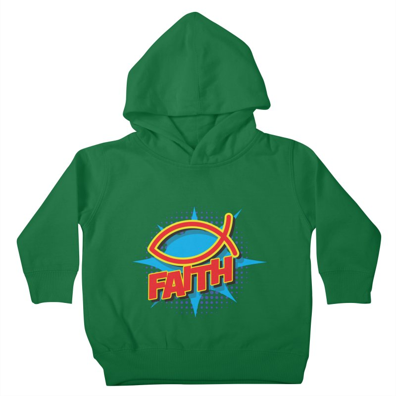Pop Art Faith Fish Kids Toddler Pullover Hoody by goofyink's Artist Shop