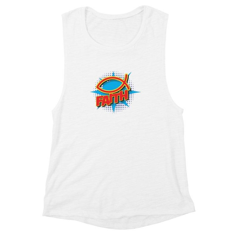 Pop Art Faith Fish Women's Muscle Tank by goofyink's Artist Shop