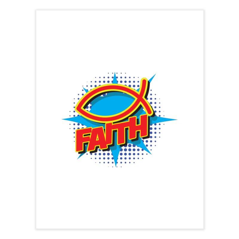 Pop Art Faith Fish Home Bath Mat by goofyink's Artist Shop