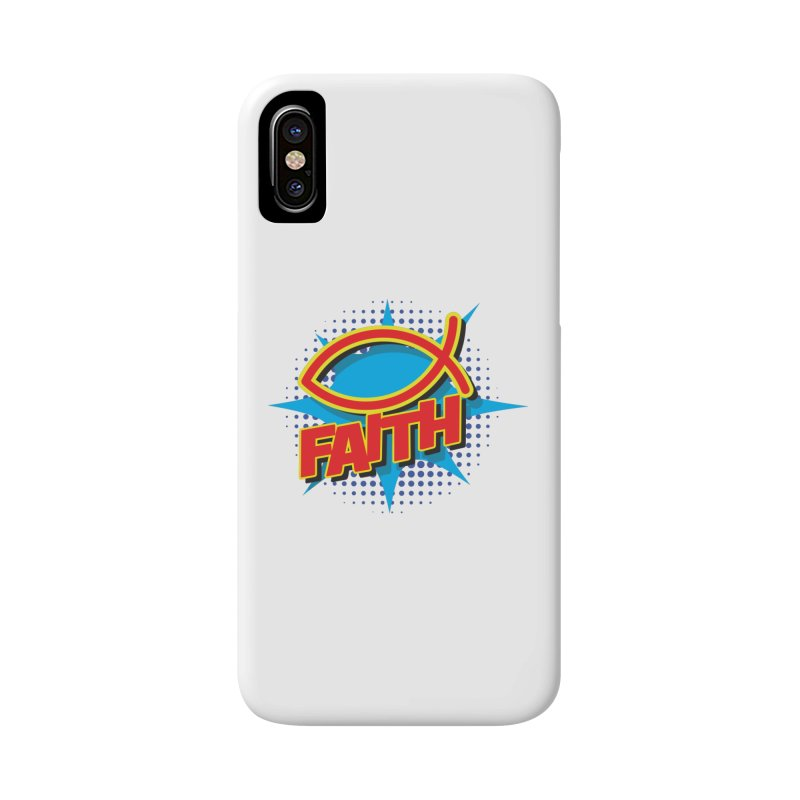 Pop Art Faith Fish Accessories Phone Case by goofyink's Artist Shop