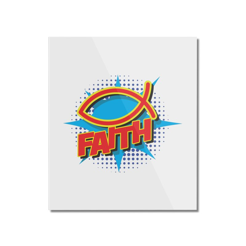 Pop Art Faith Fish Home Mounted Acrylic Print by goofyink's Artist Shop