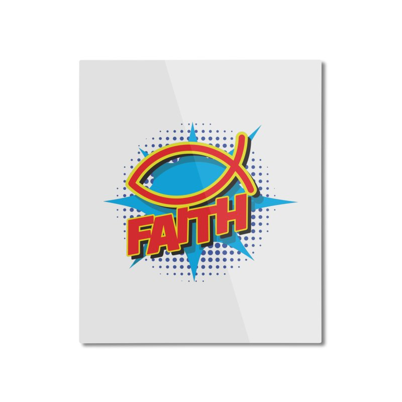 Pop Art Faith Fish Home Mounted Aluminum Print by goofyink's Artist Shop