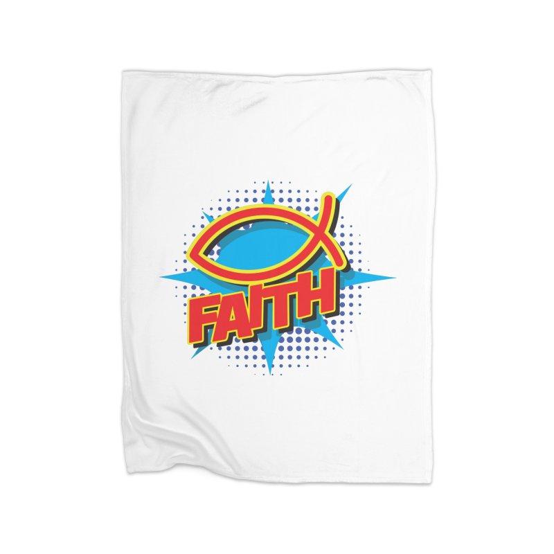 Pop Art Faith Fish Home Blanket by goofyink's Artist Shop