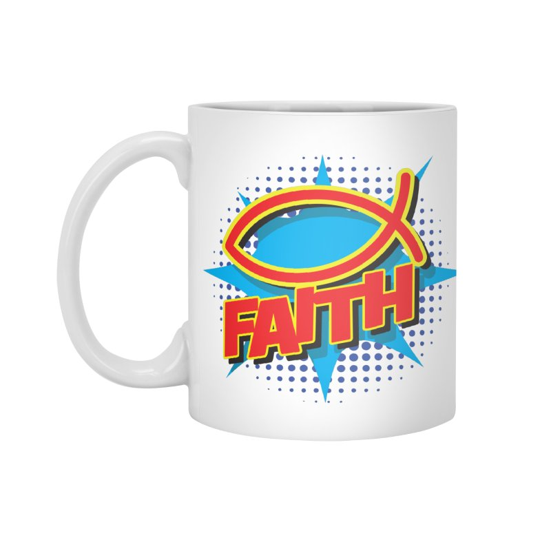 Pop Art Faith Fish Accessories Mug by goofyink's Artist Shop