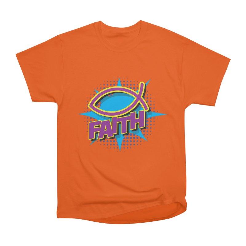 Purple and Gold Pop Art Faith Fish Men's T-Shirt by goofyink's Artist Shop