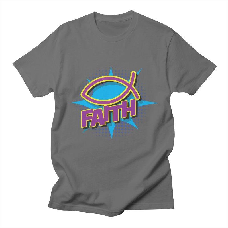 Purple and Gold Pop Art Faith Fish Women's T-Shirt by goofyink's Artist Shop