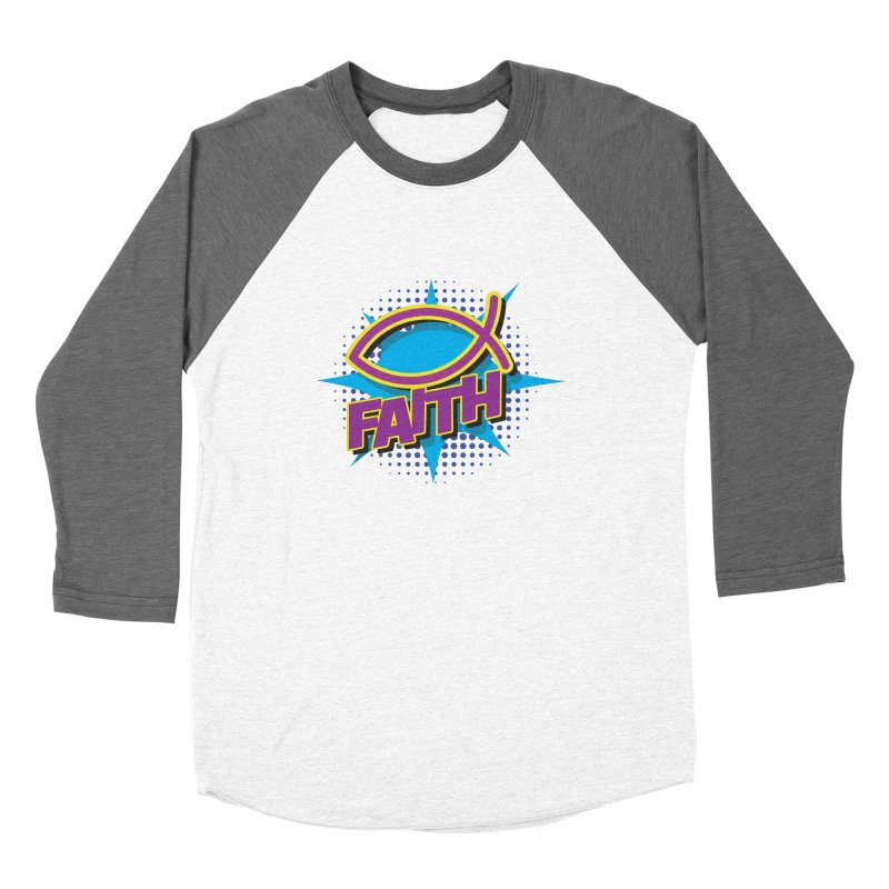 Purple and Gold Pop Art Faith Fish Women's Longsleeve T-Shirt by goofyink's Artist Shop