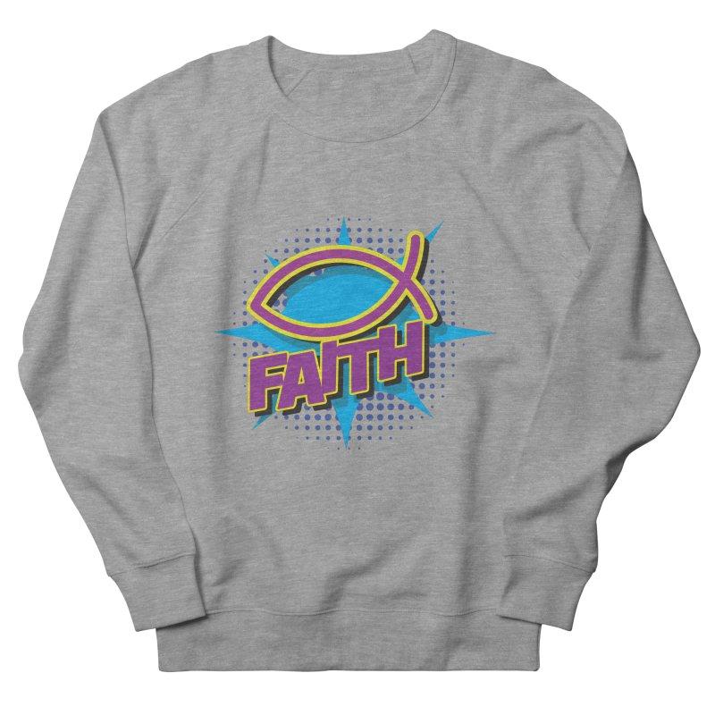 Purple and Gold Pop Art Faith Fish Men's Sweatshirt by goofyink's Artist Shop