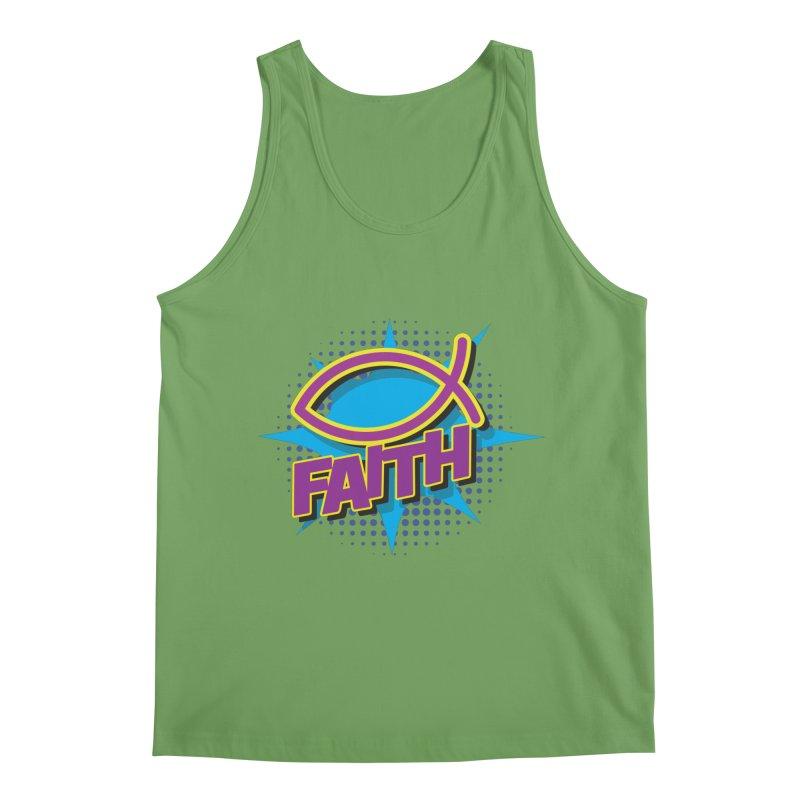 Purple and Gold Pop Art Faith Fish Men's Tank by goofyink's Artist Shop