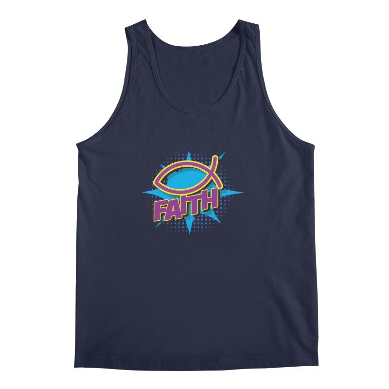 Purple and Gold Pop Art Faith Fish Men's Regular Tank by goofyink's Artist Shop