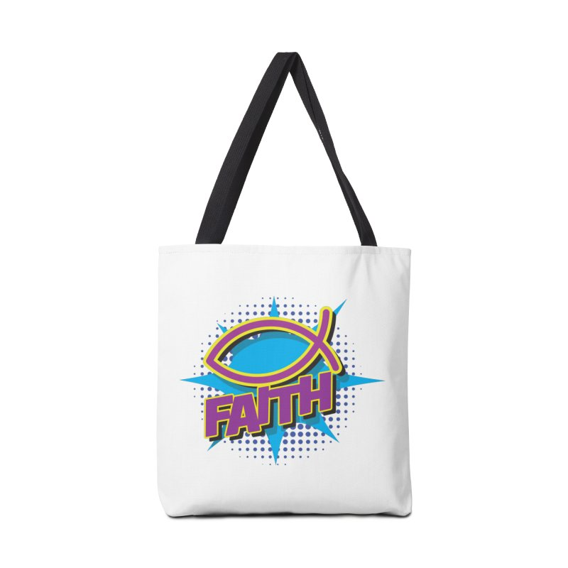 Purple and Gold Pop Art Faith Fish Accessories Bag by goofyink's Artist Shop