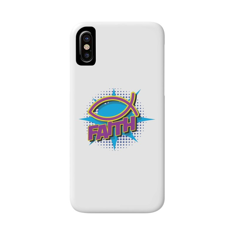 Purple and Gold Pop Art Faith Fish Accessories Phone Case by goofyink's Artist Shop