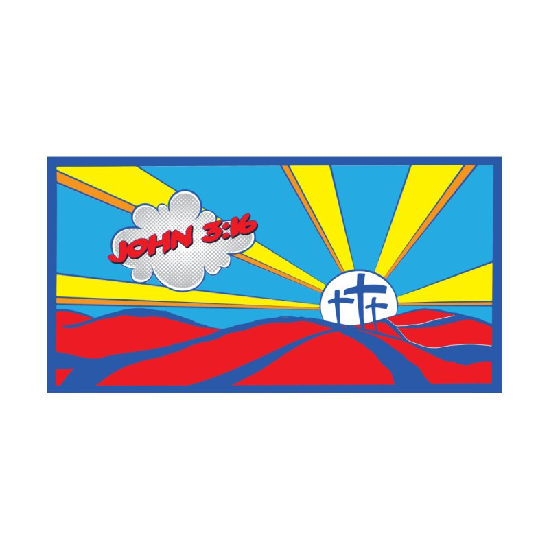 John 3:16 Pop Art Home Shower Curtain by goofyink's Artist Shop