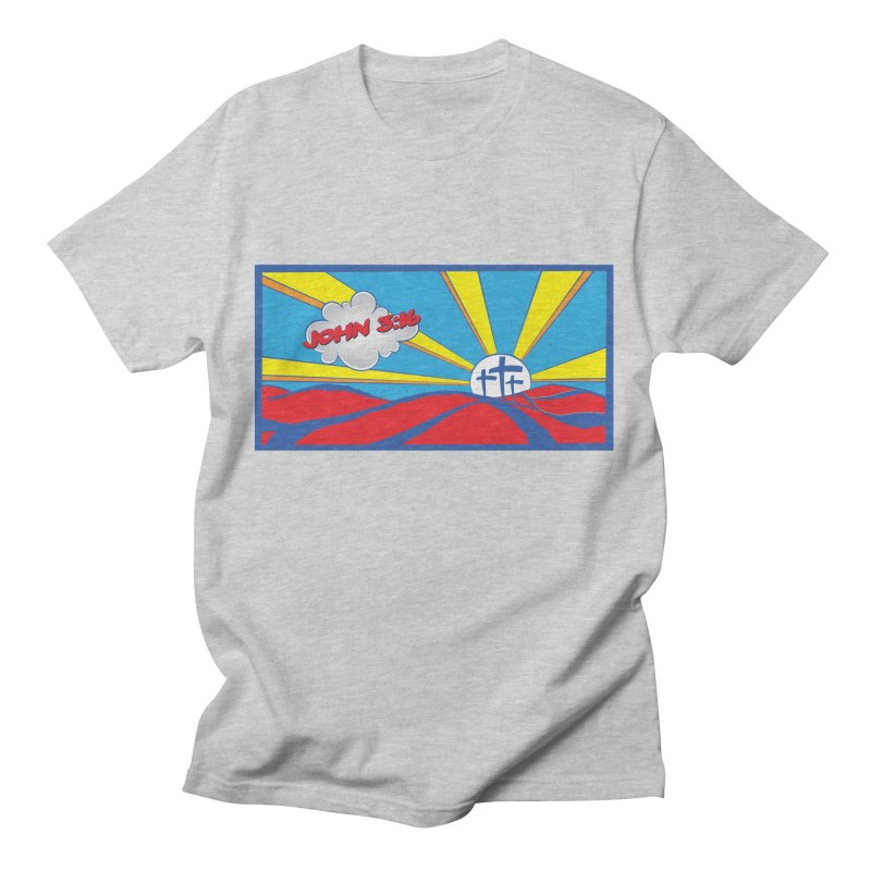 John 3:16 Pop Art Men's T-Shirt by goofyink's Artist Shop