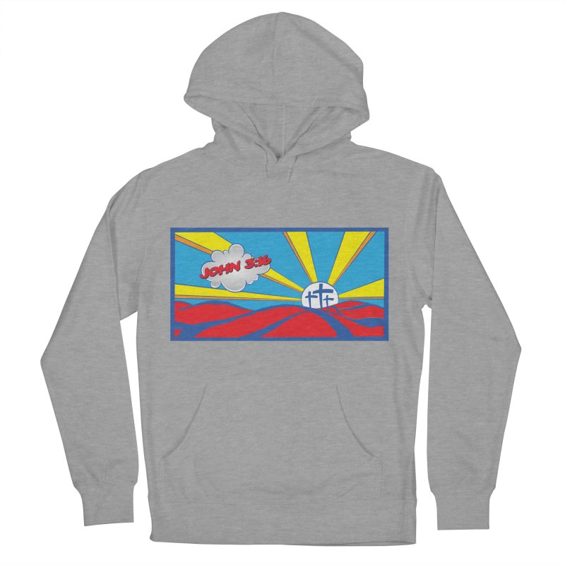John 3:16 Pop Art Men's French Terry Pullover Hoody by goofyink's Artist Shop