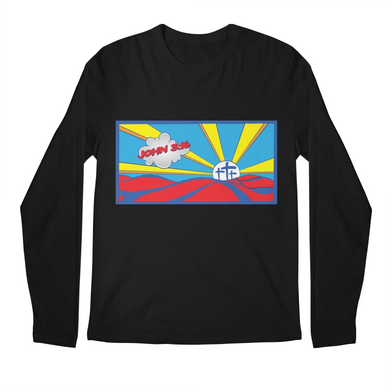 John 3:16 Pop Art Men's Regular Longsleeve T-Shirt by goofyink's Artist Shop