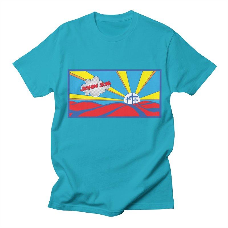 John 3:16 Pop Art Women's Regular Unisex T-Shirt by goofyink's Artist Shop
