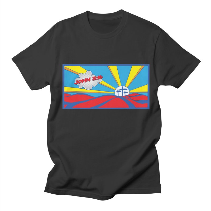 John 3:16 Pop Art Women's Regular Unisex T-Shirt by goofyink's Artist Shop