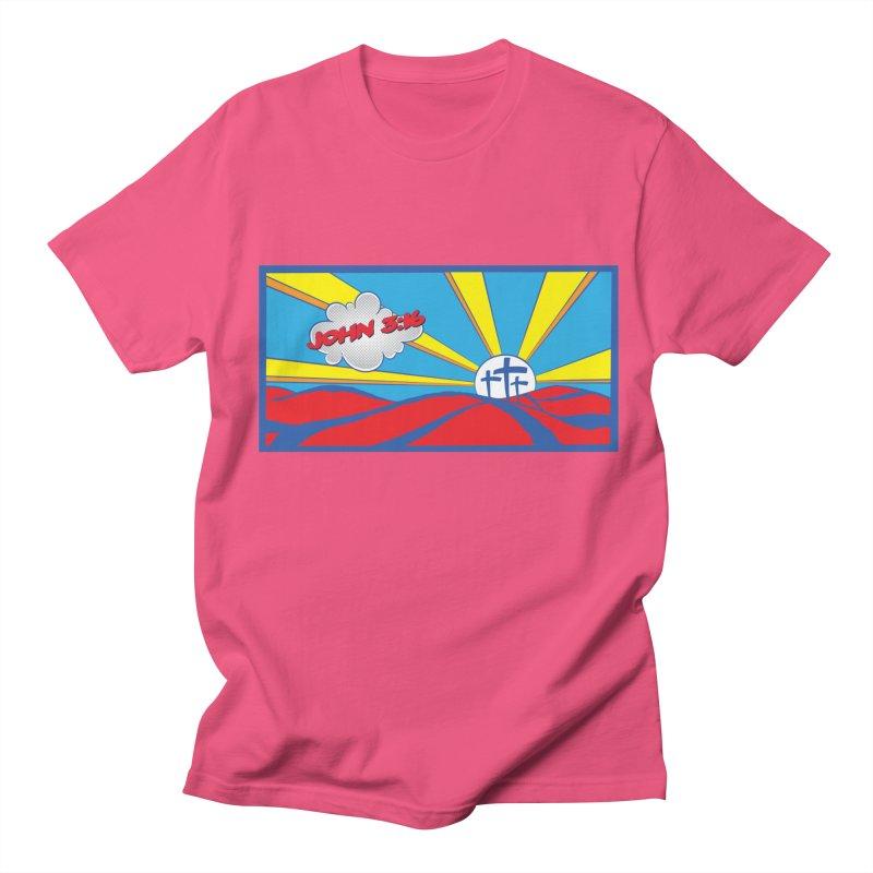 John 3:16 Pop Art Men's Regular T-Shirt by goofyink's Artist Shop