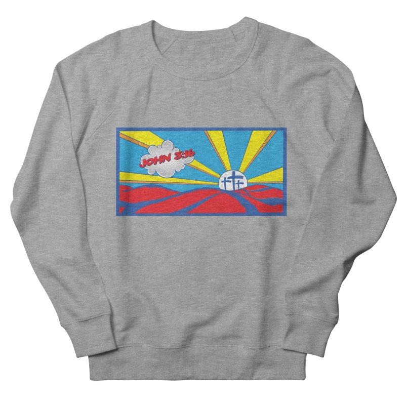 John 3:16 Pop Art Women's French Terry Sweatshirt by goofyink's Artist Shop