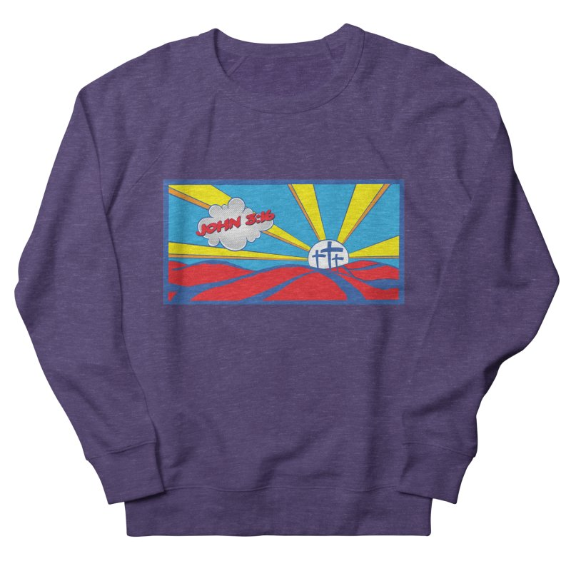 John 3:16 Pop Art Men's Sweatshirt by goofyink's Artist Shop