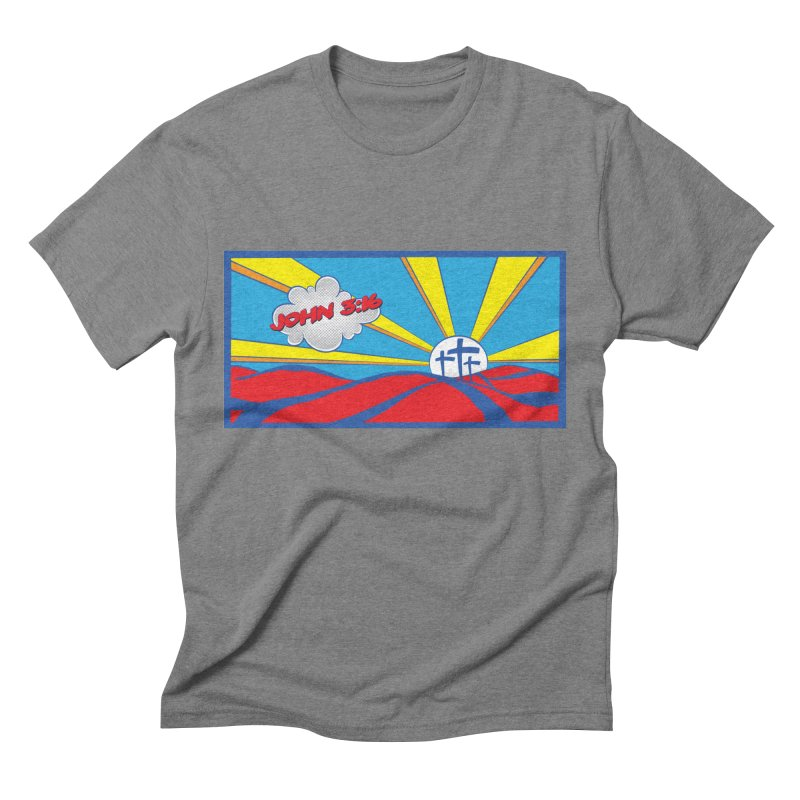 John 3:16 Pop Art Men's Triblend T-Shirt by goofyink's Artist Shop