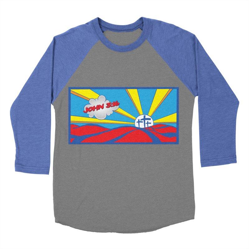 John 3:16 Pop Art Women's Baseball Triblend T-Shirt by goofyink's Artist Shop