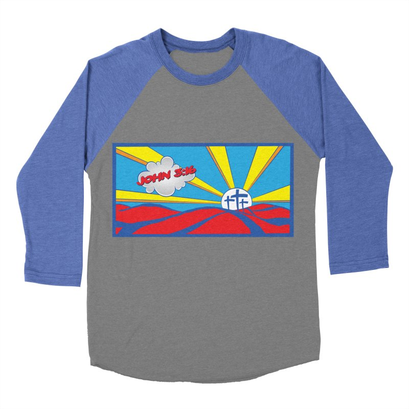 John 3:16 Pop Art Men's Baseball Triblend T-Shirt by goofyink's Artist Shop