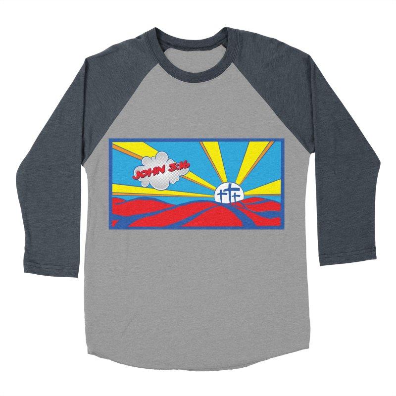 John 3:16 Pop Art Men's Baseball Triblend Longsleeve T-Shirt by goofyink's Artist Shop