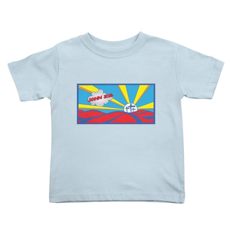 John 3:16 Pop Art Kids Toddler T-Shirt by goofyink's Artist Shop