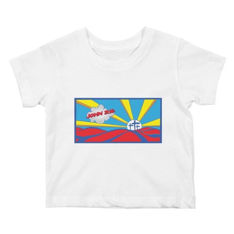 John 3:16 Pop Art Kids Baby T-Shirt by goofyink's Artist Shop