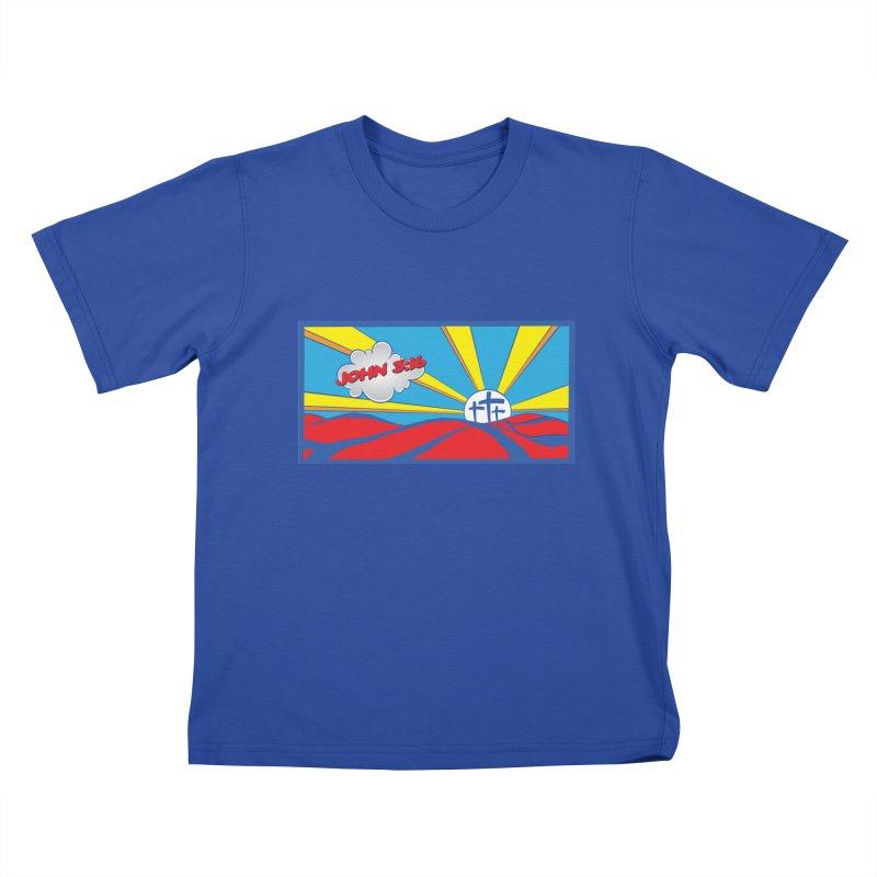 John 3:16 Pop Art Kids T-Shirt by goofyink's Artist Shop