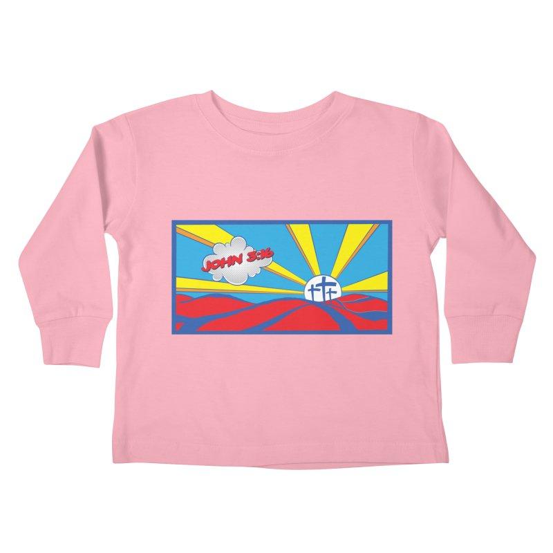 John 3:16 Pop Art Kids Toddler Longsleeve T-Shirt by goofyink's Artist Shop
